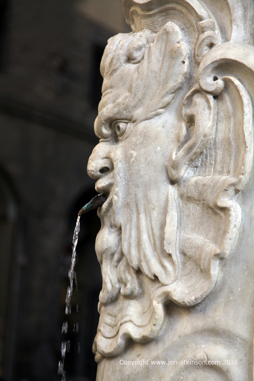 An Ornate Water Fountain On Via Maggio In Oltrarno Florence