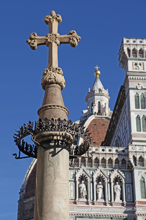 Cross Outside The Cathedral Of Santa Maria Del Fiore, Florence