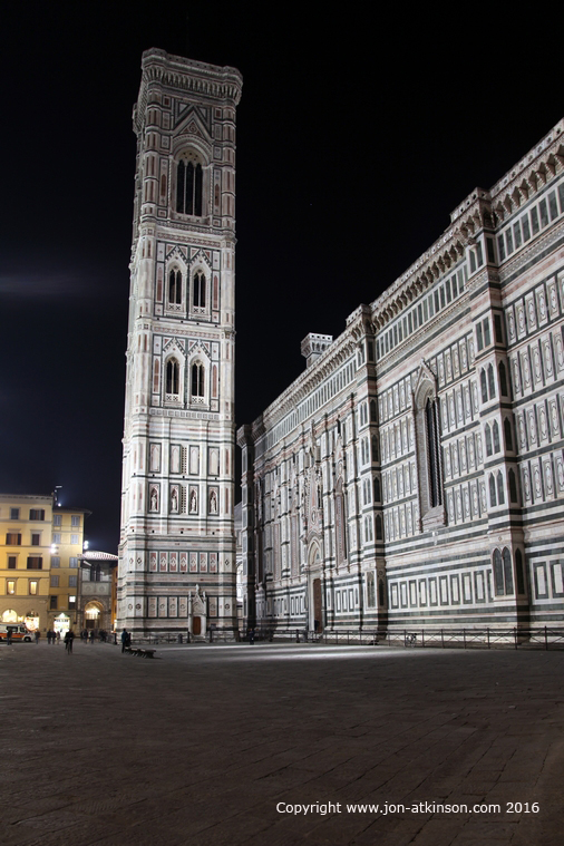 Giotto's Campanile at Night, Florence