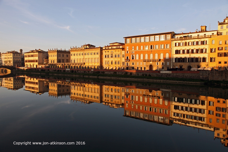 River Arno Reflections, Florence