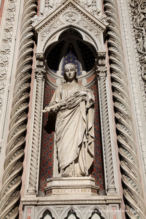 Statue of Santa Reparata Florence Cathedral