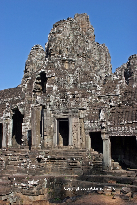 Building with Face Tower on 2nd Level, Bayon Temple