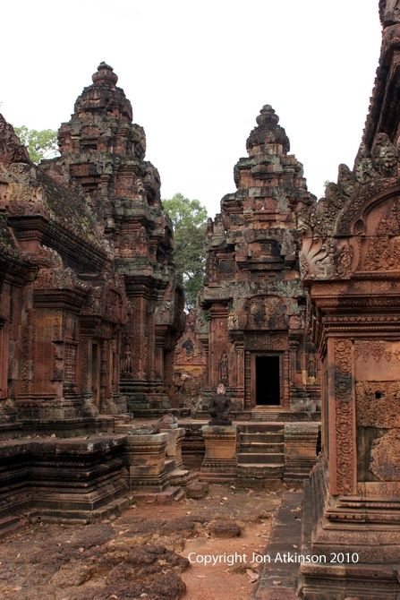 Central Shrines of Banteay Srei Angkor, Cambodia