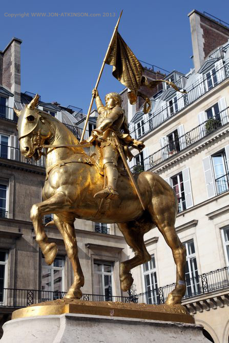 Joan of Arc Statue, Paris, France.