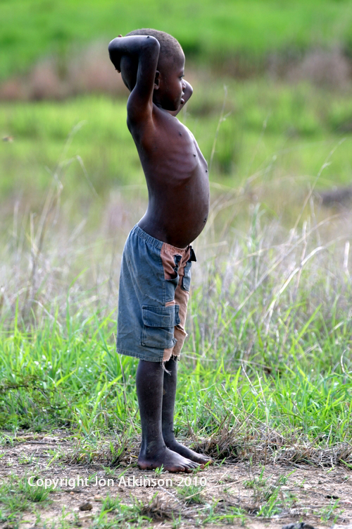 Madagascan boy out in the fields