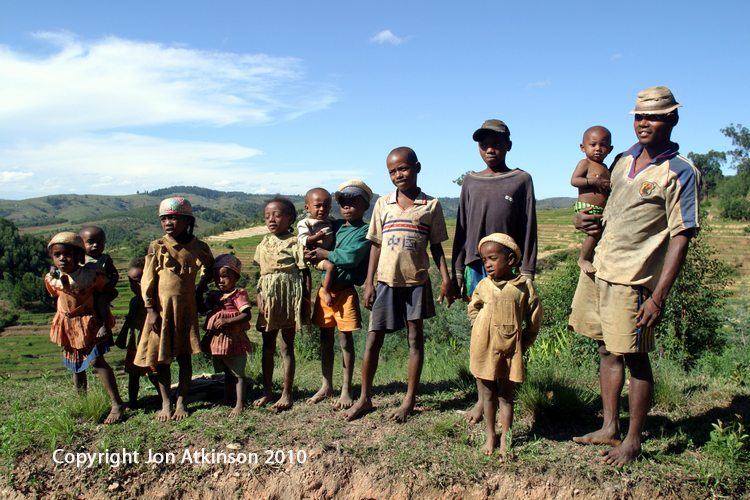 Madagascan family, higland region of Madagascar