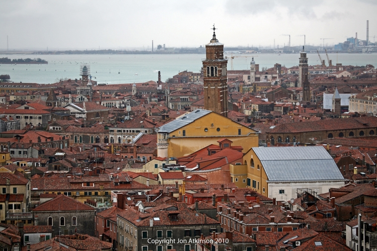 Venice City View From St. Mark's Campanile