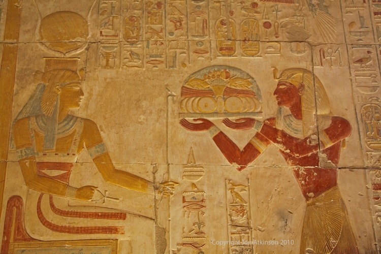 Images from the inner Isis Chapel, Abydos