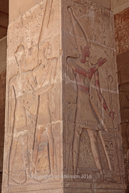 Pillar at entrance to Temple of Seti I, Abydos