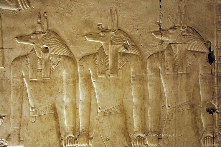 Relief of Anubis, Abydos