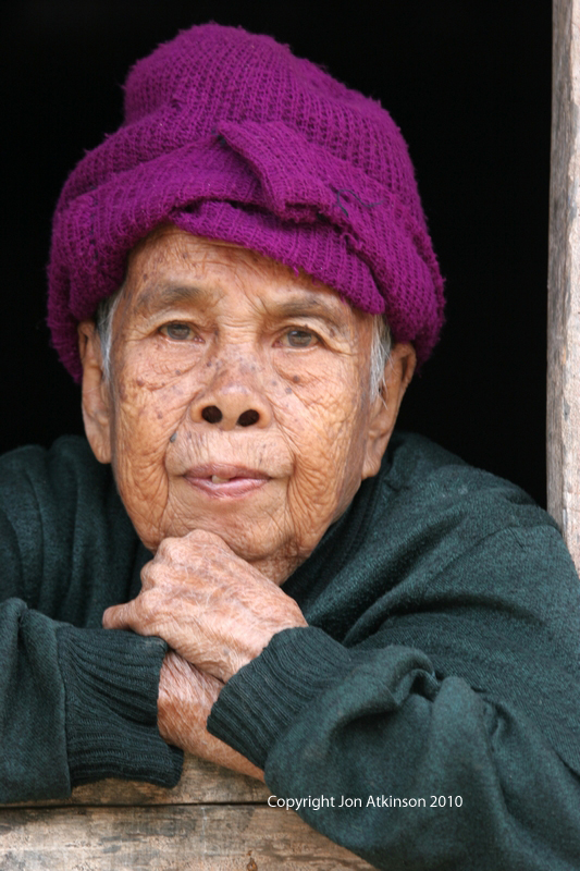 Old woman, Mekong River Vilage Laos