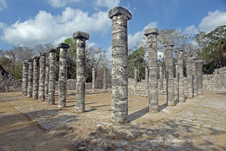 Temple of a Thousand Warriors (Columns), Chitzan Itza