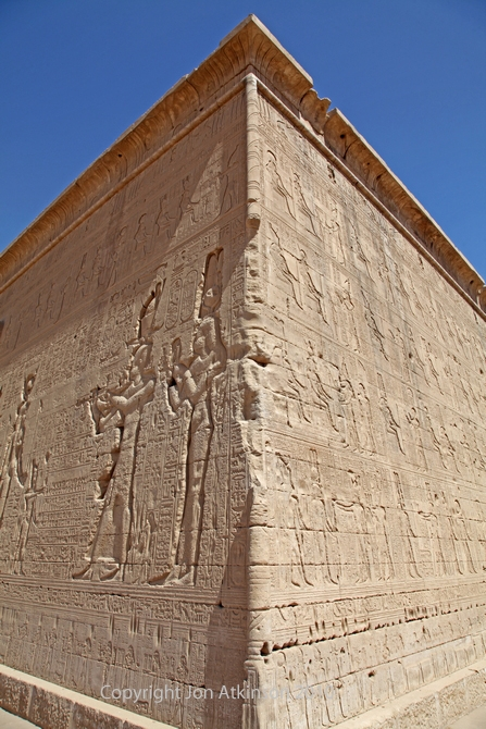 The Temple of Hathor (corner view), Dendera