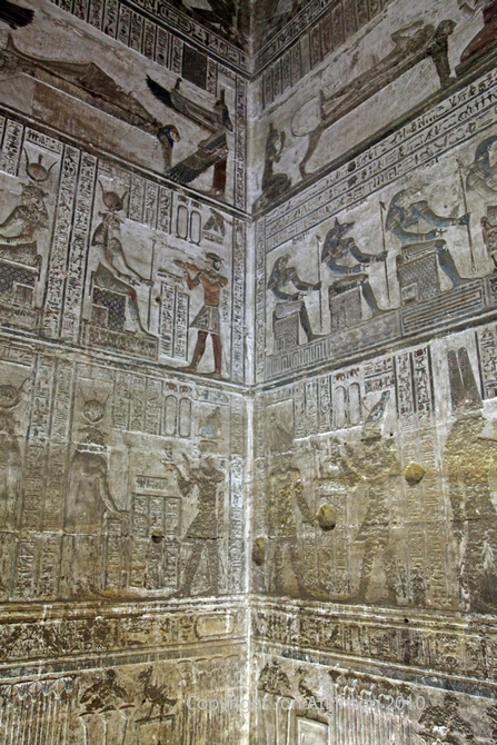 Walls of Crypt in Temple of Hathor