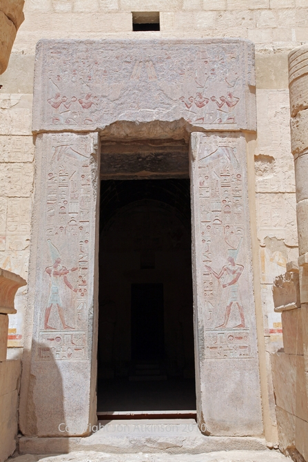 Entry to the Sanctuary of Amun, Temple of Deir el Bahari