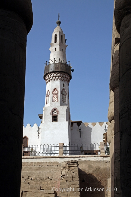 Abu Haggag Mosque over pharaonic temple