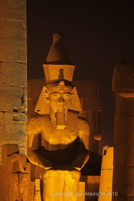 Illuminated Statue of Ramesses II