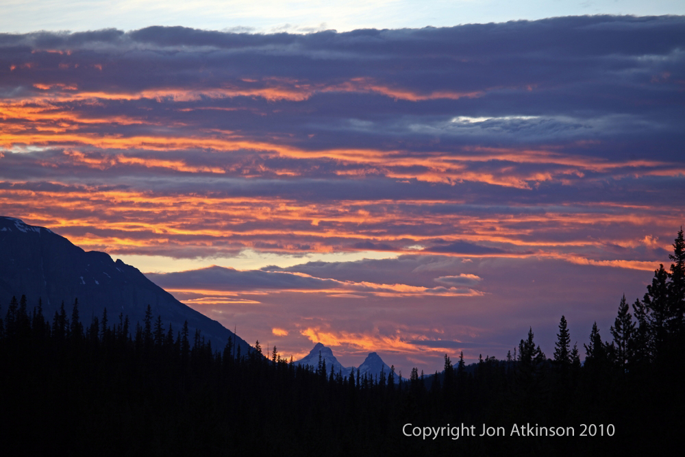 Sunset over the Rocky Mountains, Banff N.P.