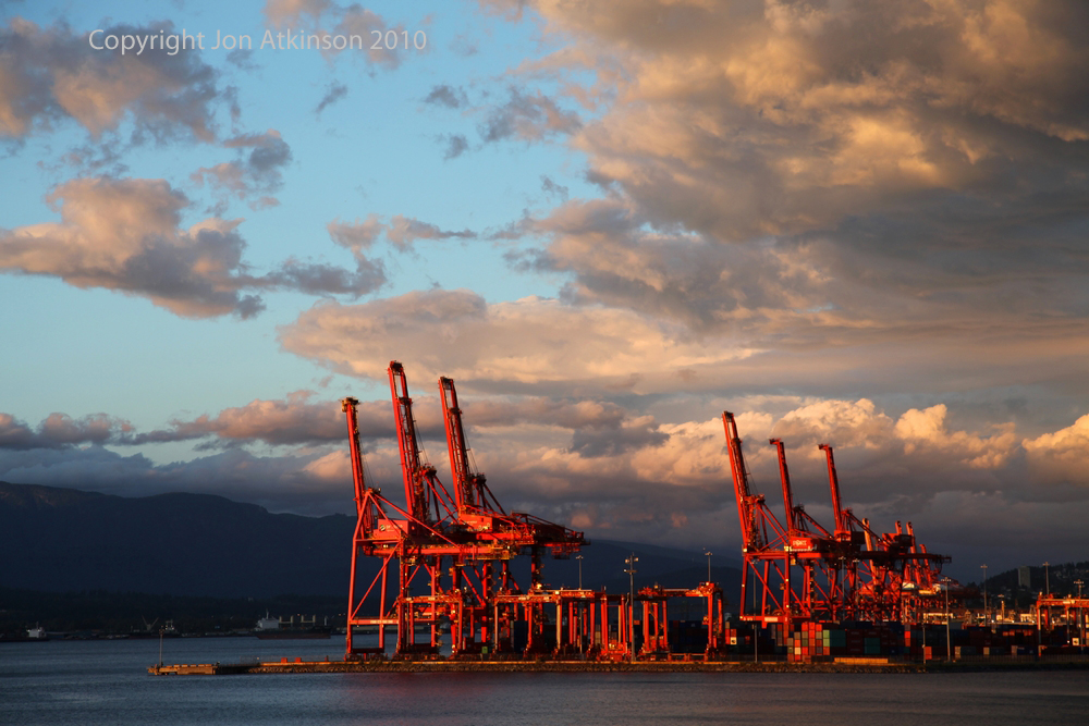 Sunset, Vancouver, British Columbia.