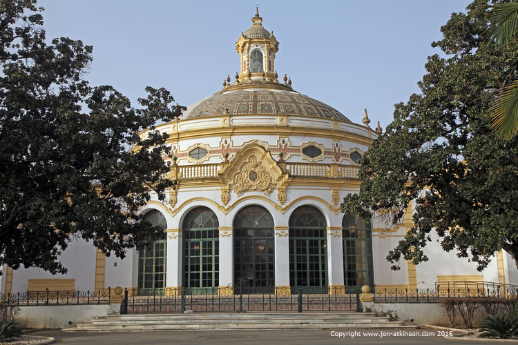 neo baroque dome of Seville theatre
